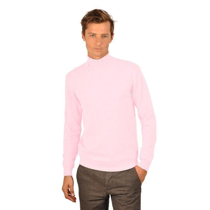Pull cachemire homme KEROS Rose Achat / Vente pull
