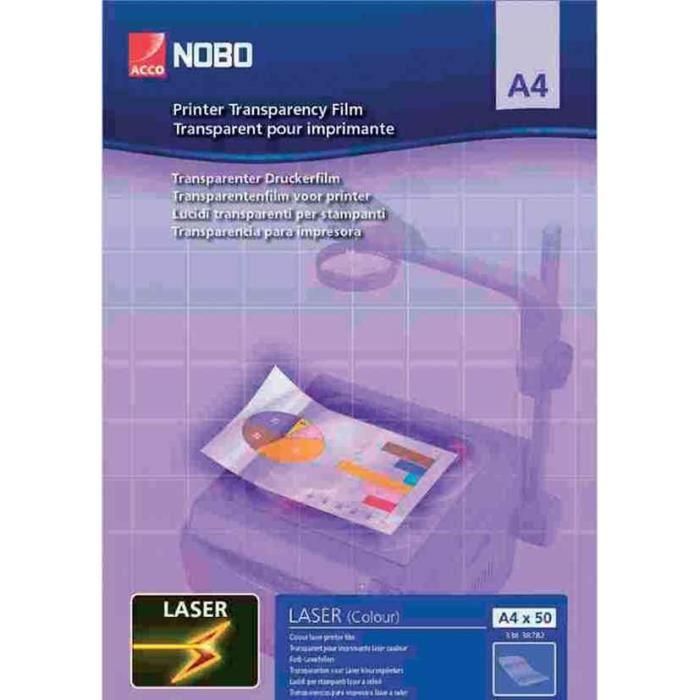 Transparent pour imprimante laser, format A4, 120 NOBO Transparent