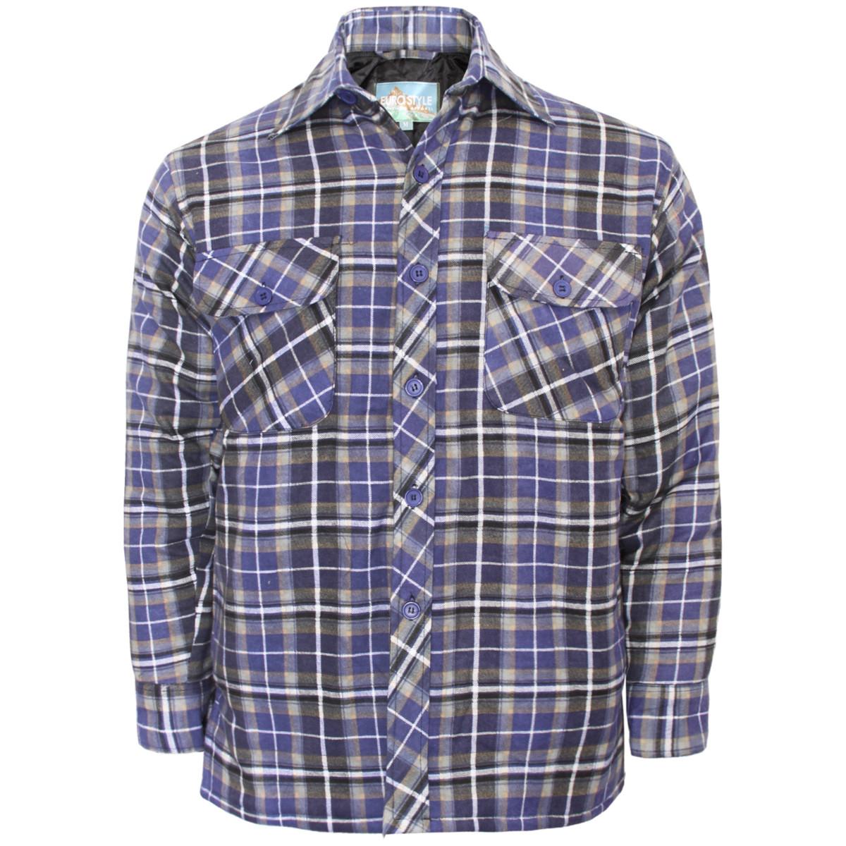 Homme d 039 epaisseur chemise bucheron a carreaux Matelasse Chaud