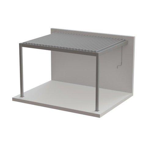 Pergola adossée cadix, aluminium blanche, 12 m² |