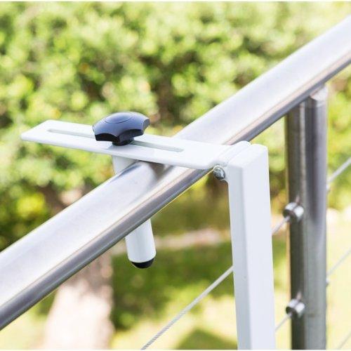 Table DE Balcon Suspendue ET Rabattable Ajustable EN Hauteur Noir Neuf