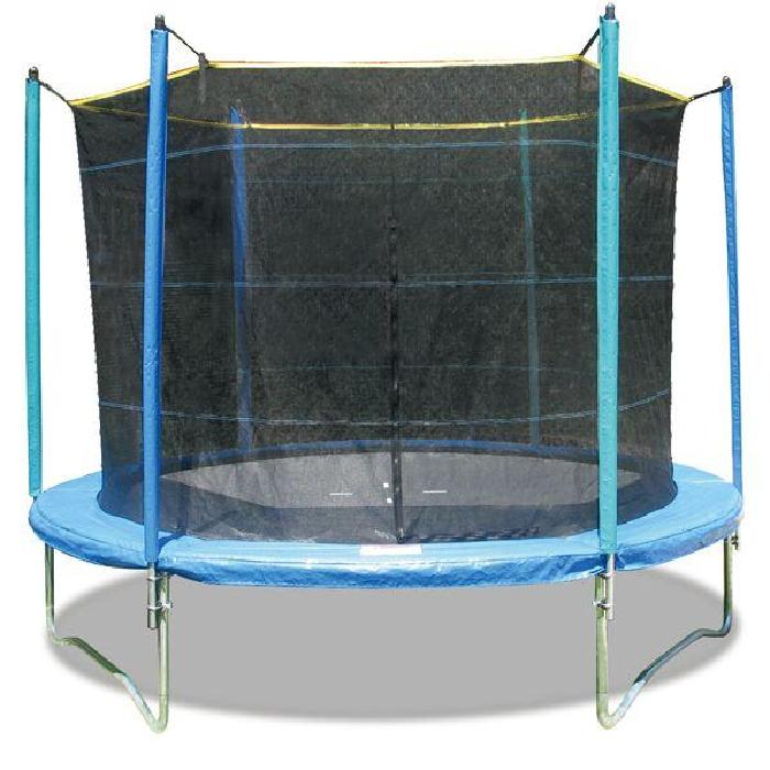 TRAMPOLINE 2M44 + FILET DE PROTECTION. TRAMPOLINE DIAMÈTRE 2M44