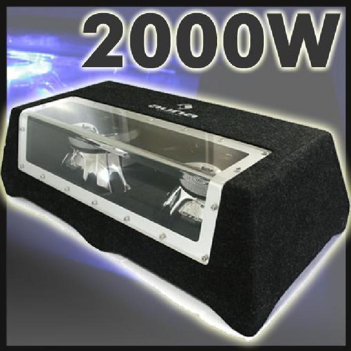 caisson de basses 12″ sono 2000W auto hifi Double caisson de basses