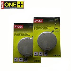 Ryobi RAC124 Lot de 2 bobines de rechange pour tondeuse à