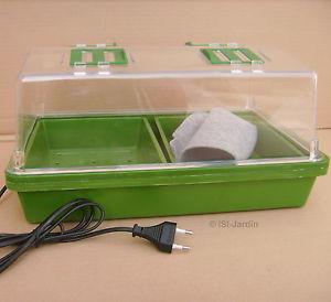 Mini serre Chauffante 12 watts 38,5 x 24,5cm, hauteur 19