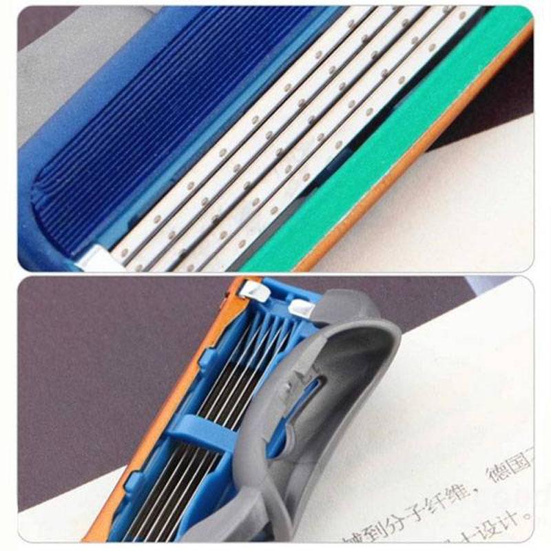 Man rasoir recharges de cartouche lame 5 couches pour Gillette Fusion