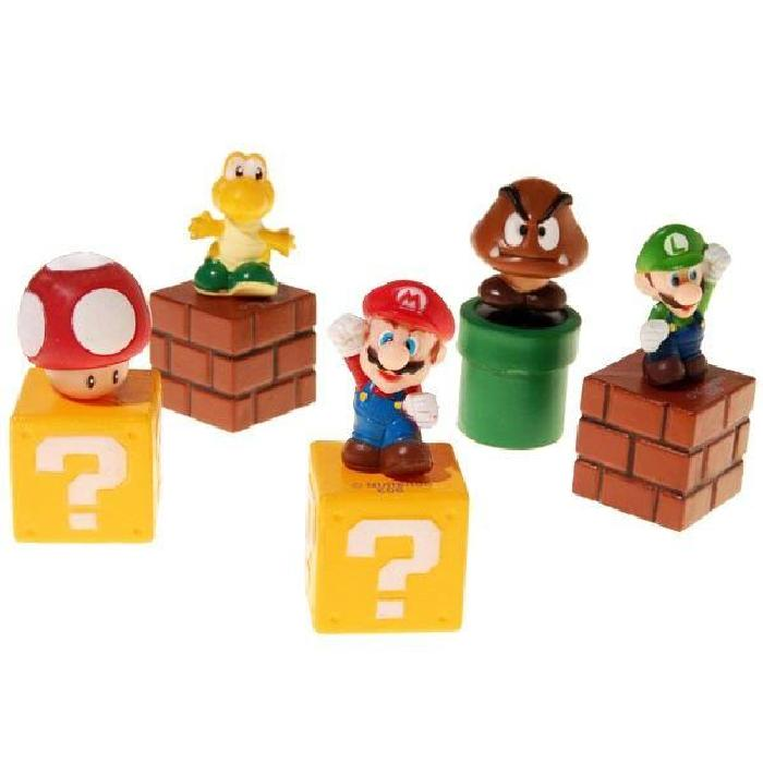 de 5 Figurines Super Mario Bros (6cm) Set de 5 figurines Super Mario