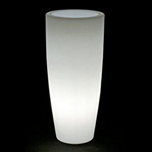 Bambu light pot de fleurs, lumineux, Ø 40 cm, hauteur 89,5 cm,Blanc