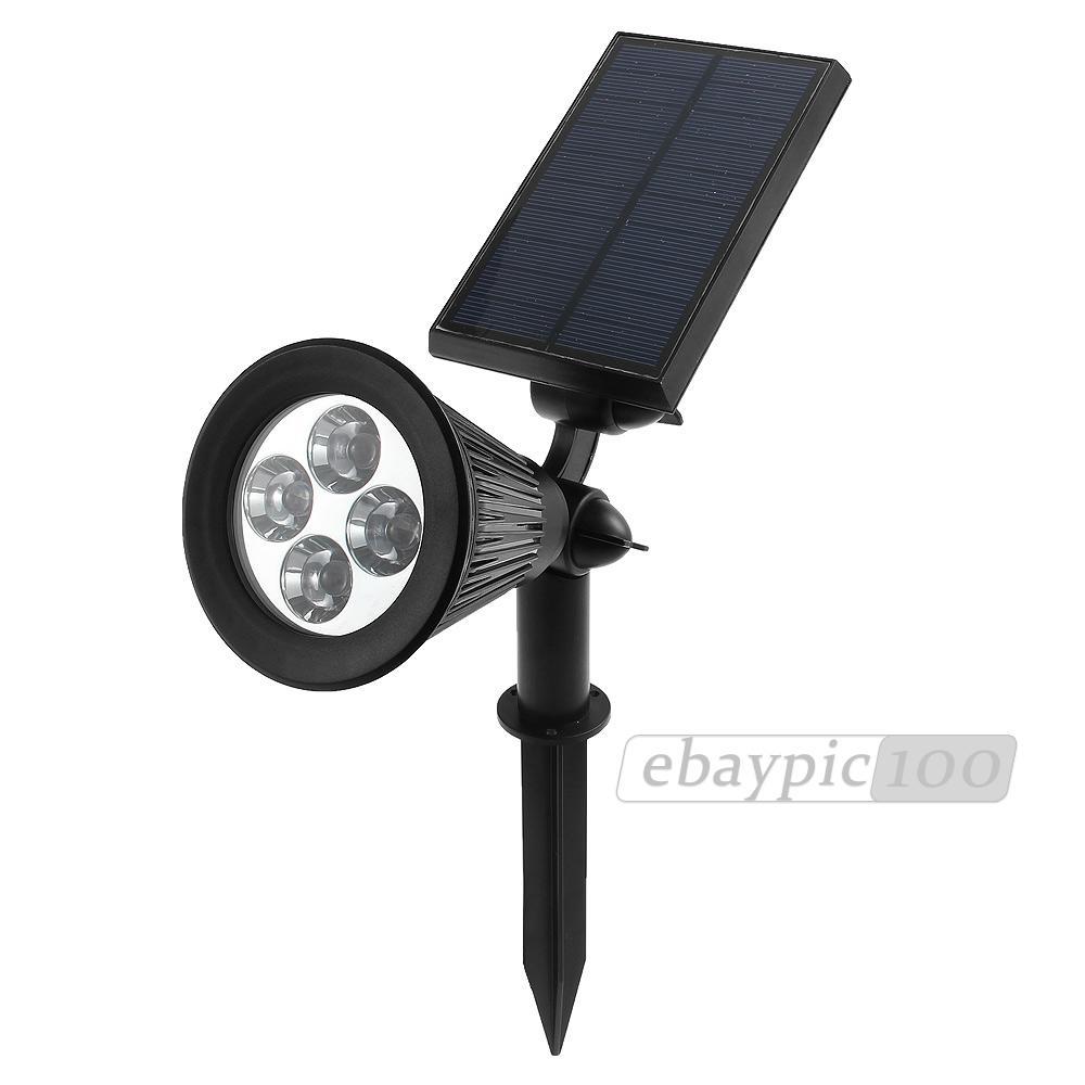 solaire ip65 projecteur 4 led ampoule lumière light lamp spot panneau