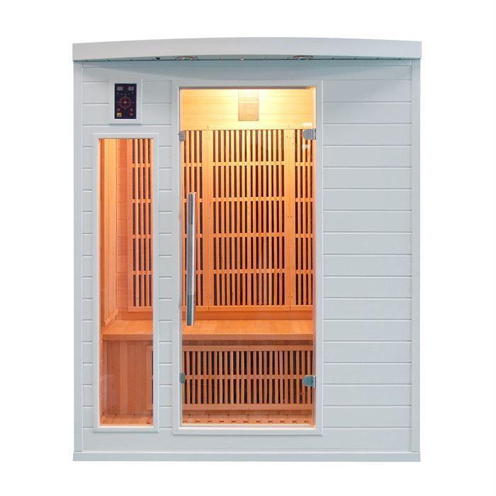 Sauna infrarouge SOLEIL BLANC 3 places Achat / Vente kit sauna Sauna