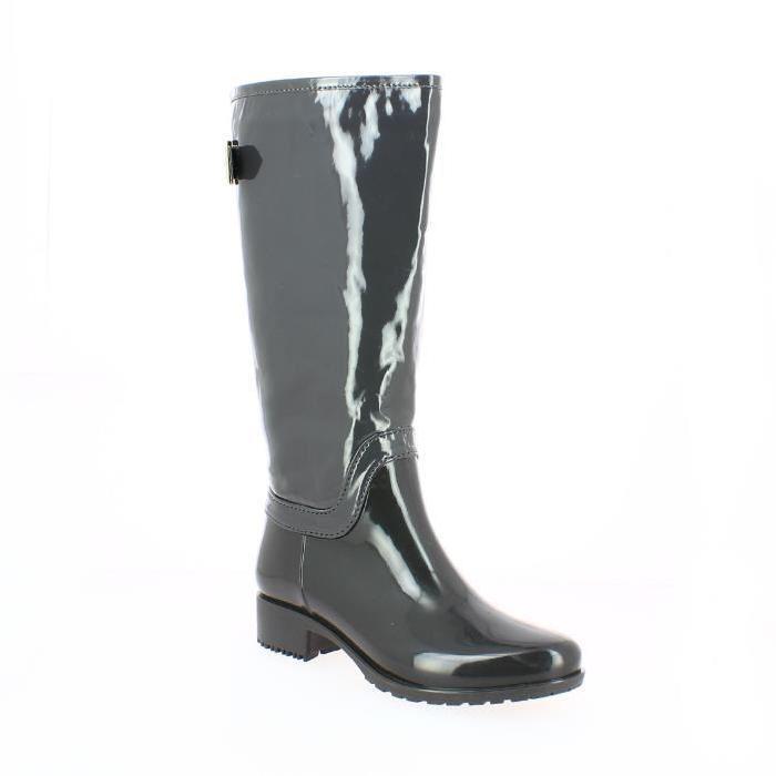 Bottes de pluie femme gris Zaza Pata Ces bottes de pluie grises