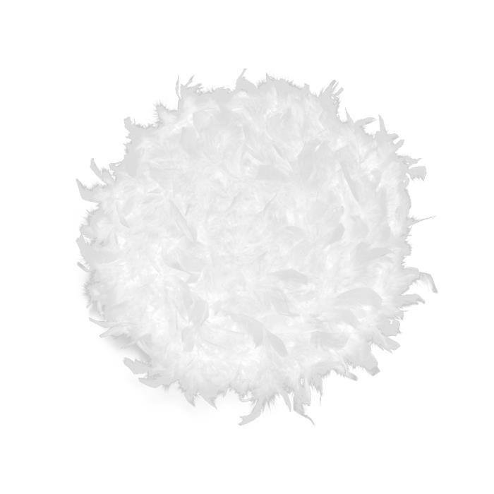 Coussin rond dé;houssable PLUMES Blanc Coussin rond déhoussable