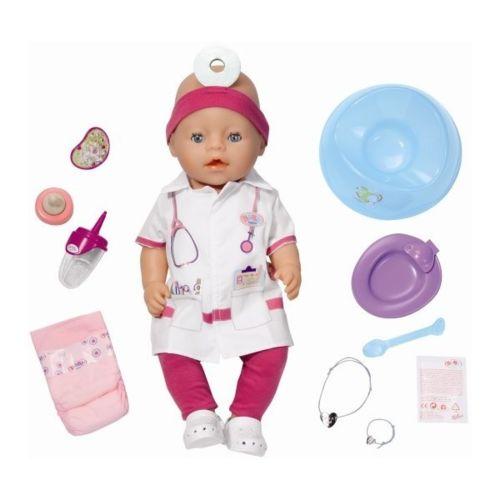 Zapf Baby Born Interactif Coffret Docteur Poupon À Fonctions