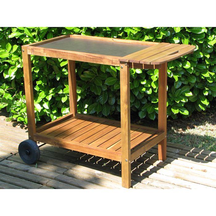 desserte de jardin en bois topiwall. Black Bedroom Furniture Sets. Home Design Ideas