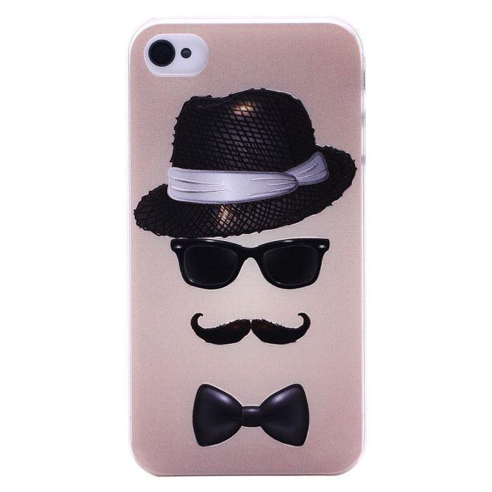 coque lunette moustache iphone 4/4s Achat / Vente Coque lunette