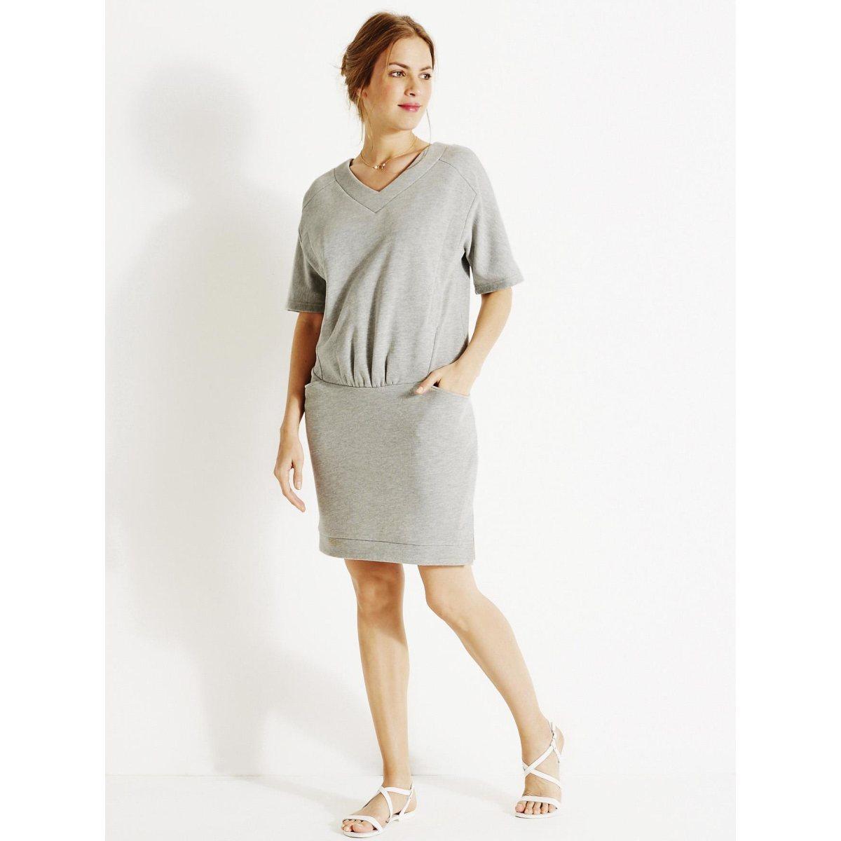 image Robe T shirt grossesse et allaitement en molleton COLLINE BY