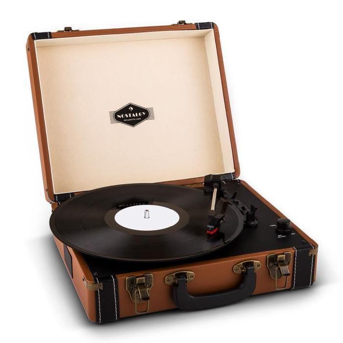 auna jerry lee platine vinyle rétro lp usb marron platine vinyle