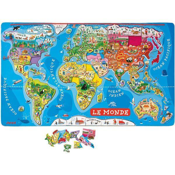 Puzzle monde Magnétique 92 pièces Achat / Vente puzzle Soldes* d