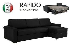 Canapé D'Angle Dreamer Convertible Système Rapido 120cm Cuir ECO