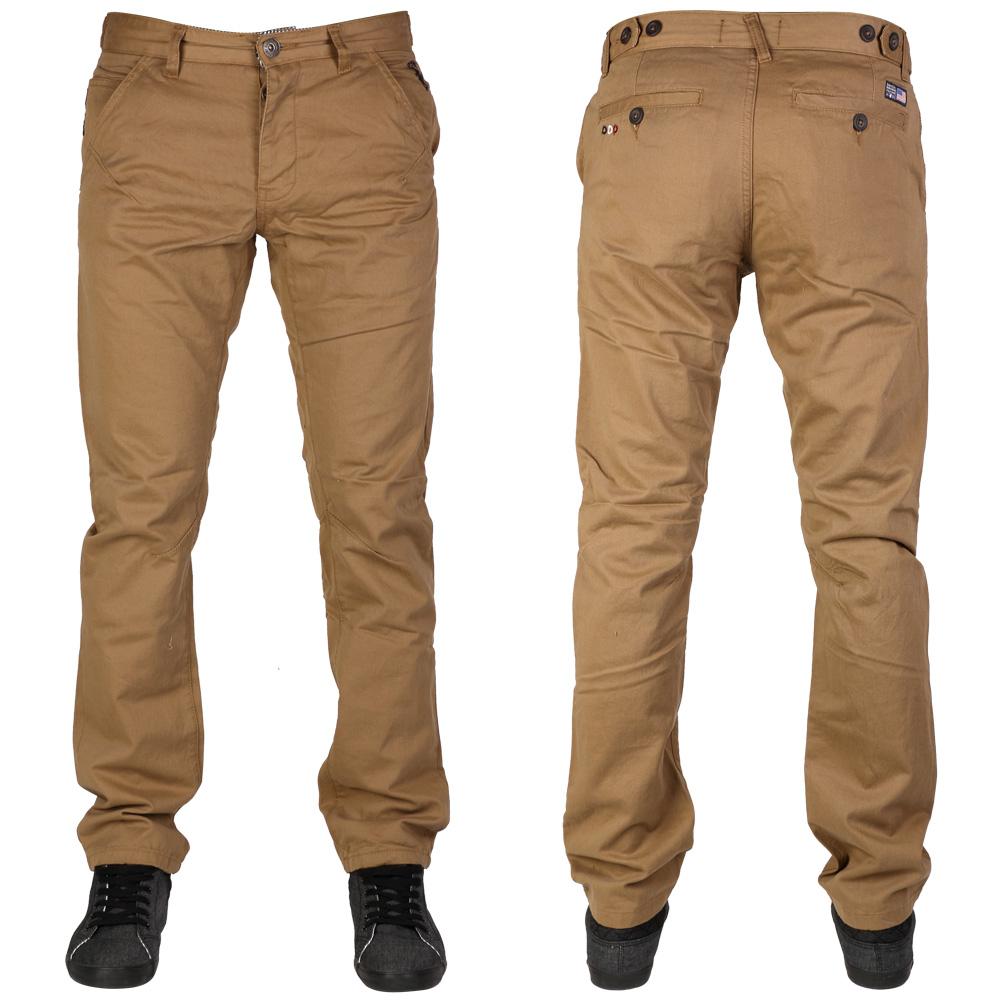 Nouveau Homme Santa Monica Braguette Boutonnée Slim Pantalon Chino