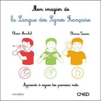 imagier à toucher de la langue des signes cartonné Olivier