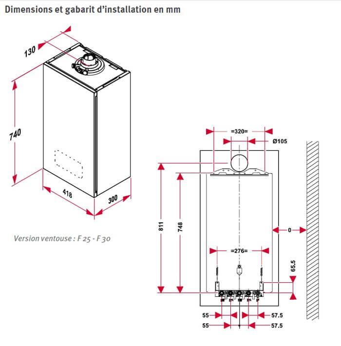 Duval SemiaFast F25 Condensation Saunier Duval 0010019079
