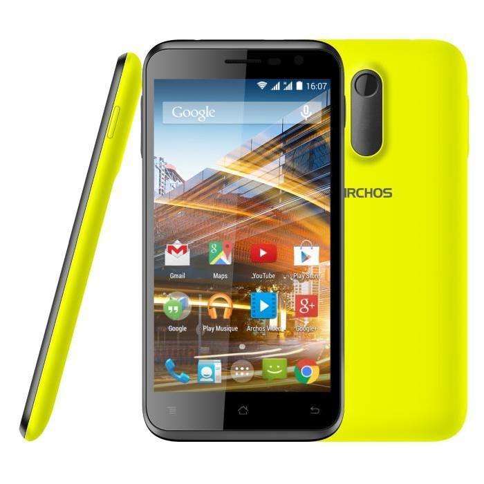 Archos 50C Neon 8 Go + 2 coques Achat smartphone pas cher, avis et