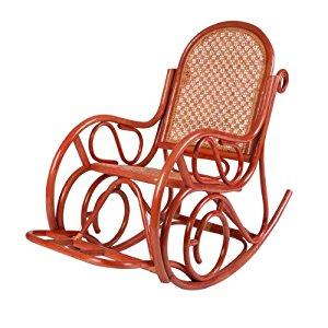 Fauteuil Evissa Rocking Chair couleur Rouge fauteuil de détente