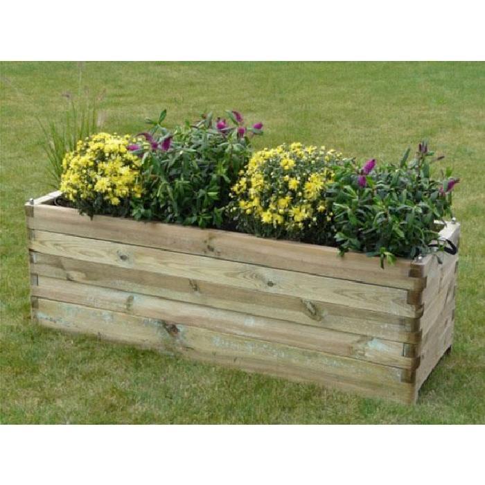 bac a fleurs en bois robust rectangulaire 150