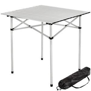 Table de camping de jardin pliable pliante en aluminium