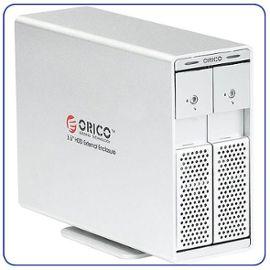 Boîtier Externe Duo Double pour 2x Disque Dur SATA 3.5» / USB 3.0 e