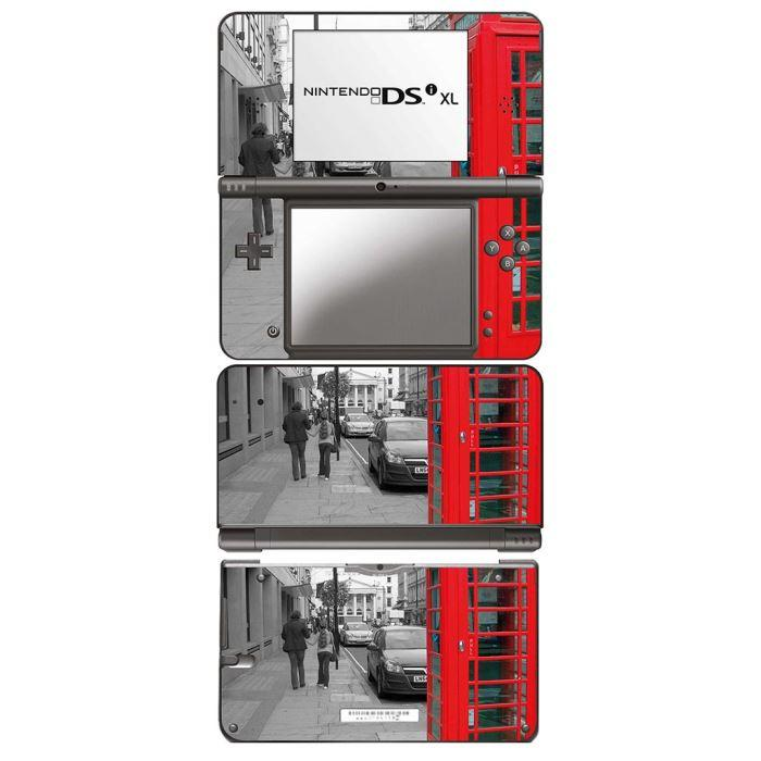 DSI XL (Sticker : Cabine rouge) Personnalisez votre nintendo DSI XL