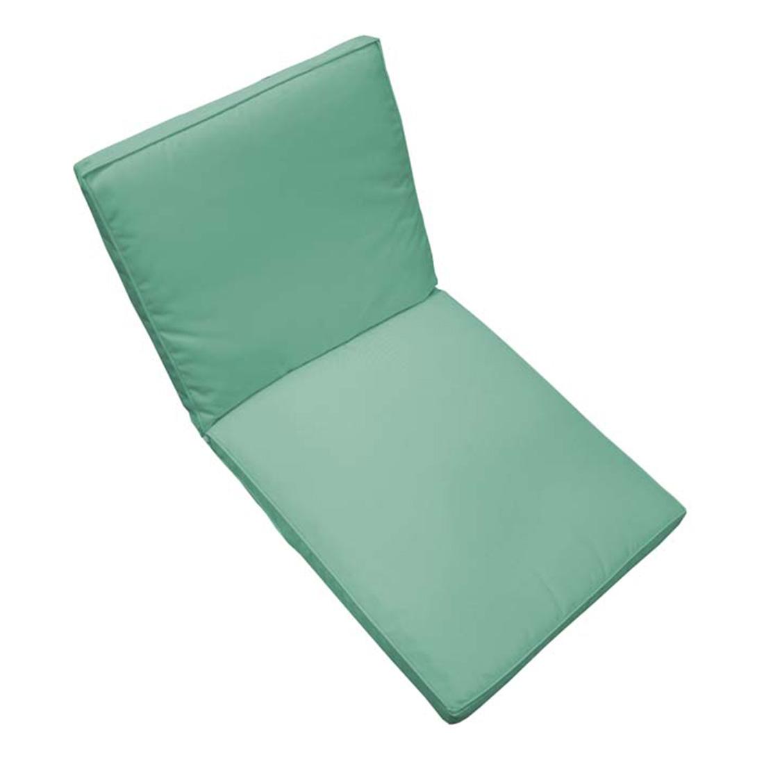 Coussin de fauteuil de jardin bleu aqua Bleu 90 X 42