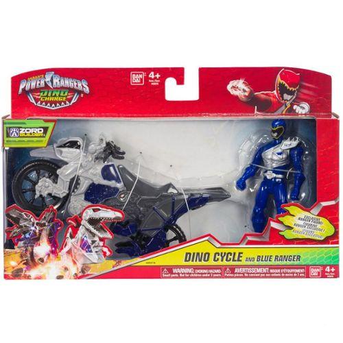 Bandai Power Rangers Dino Charge Moto Raptor et Figurine Bleu 12 cm