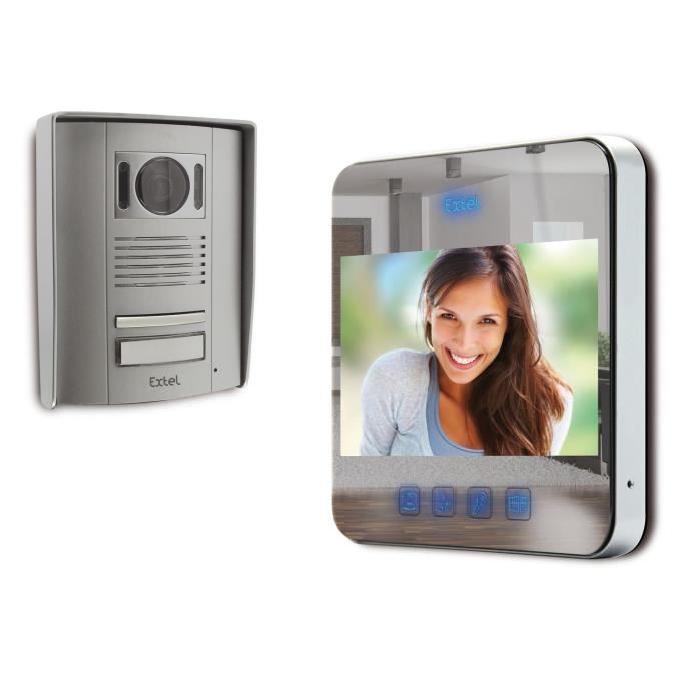 EXTEL Visiophone couleur 2 fils effet miroir QUATT Achat / Vente