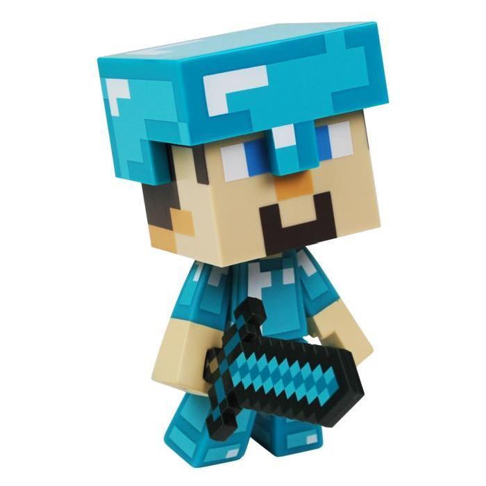 MINECRAFT Figurine 15 Cm Diamond Steve Minecraft Achat / Vente