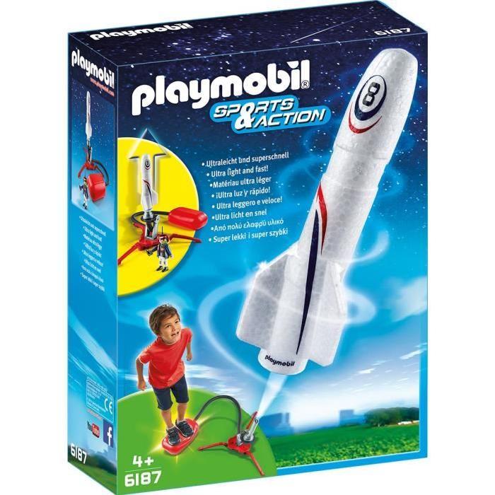 PLAYMOBIL 6187 Fusée avec plateforme de lancement Achat / Vente