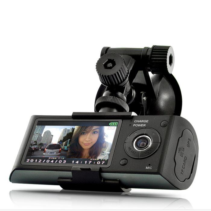 Dashcam caméra double auto embarquée enregistreur avec GPS logger et