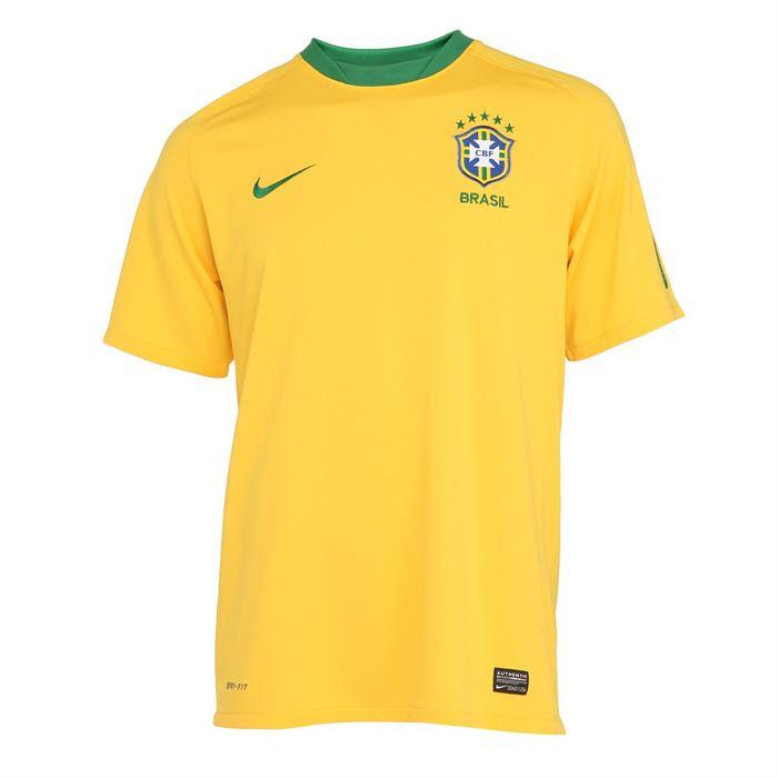 Modèle Replica Brazil Home. Coloris : jaune. Maillot de Foot Homme