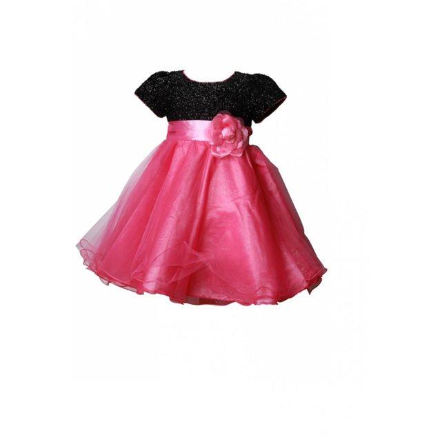 DYMASTYLE Robe Cérémonie Bébé rose ou fuchsia Bustier noir | La
