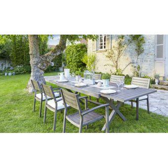de jardin Ensembles tables et chaises CARREFOUR Ensemble 1 table
