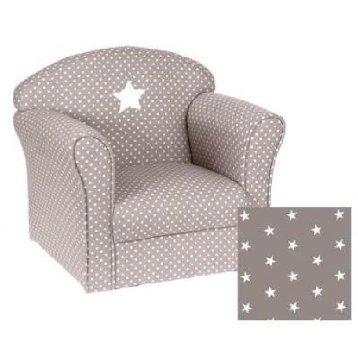 Fauteuil pour enfant taupe Gris Achat / Vente fauteuil canapé