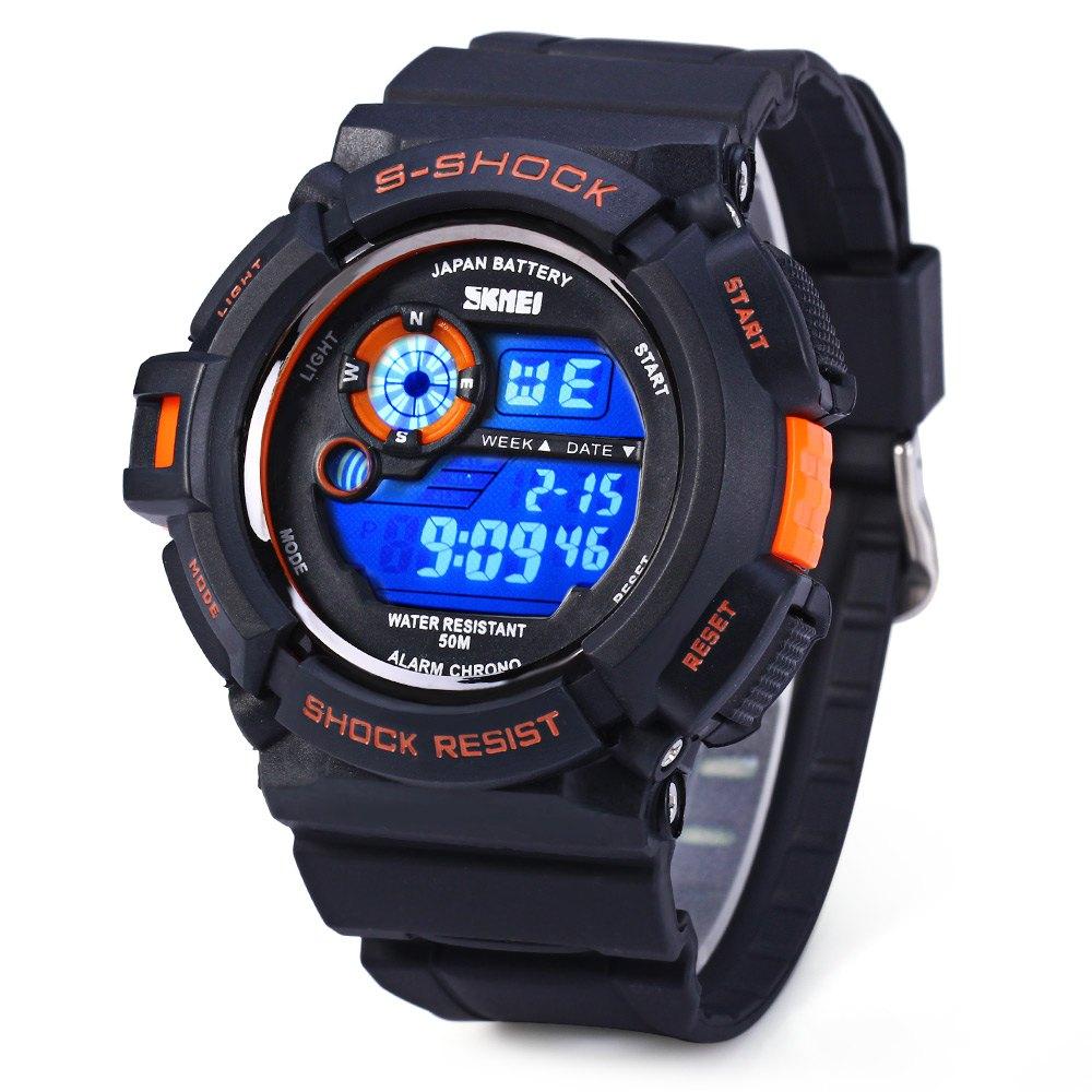 LED Montre électronique 50m Etanche Sports Bracelet montre Unisex