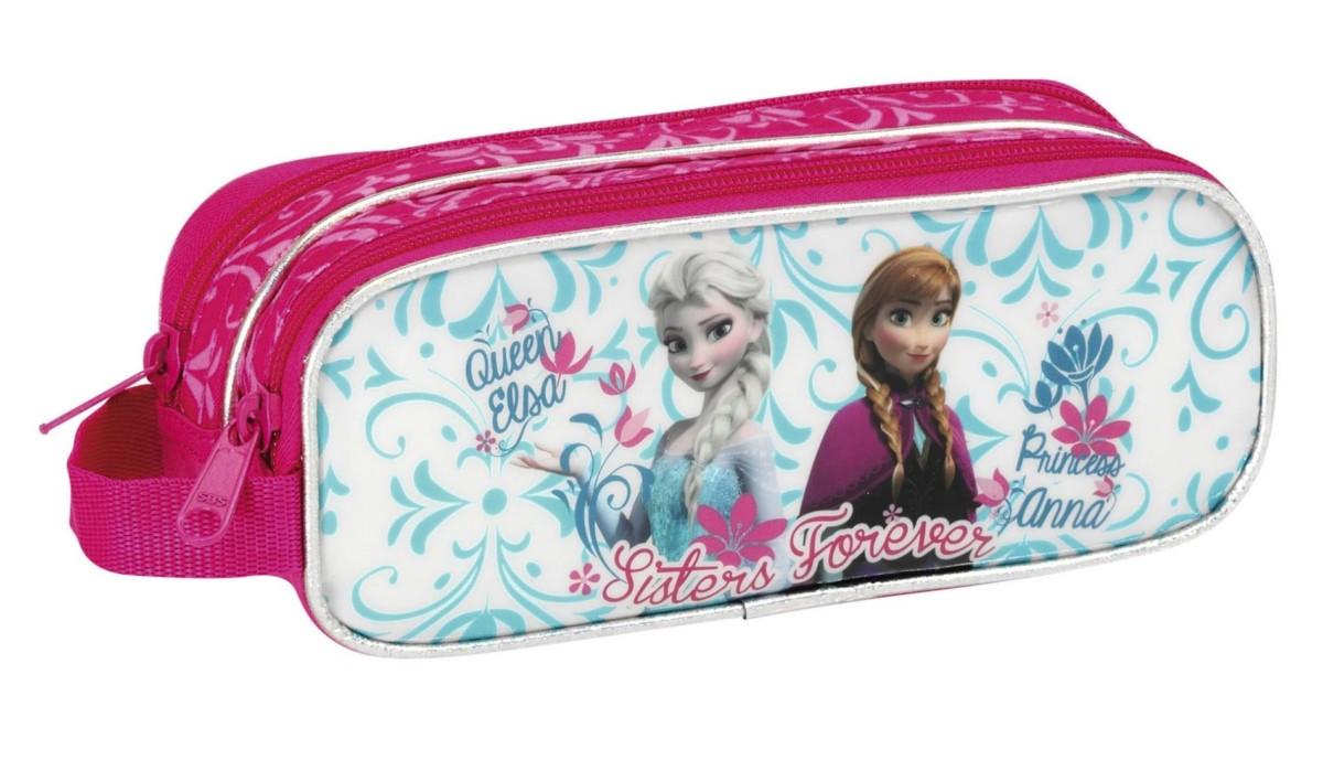 La Reine des Neiges Double Trousse Scolaire Elsa & Anna