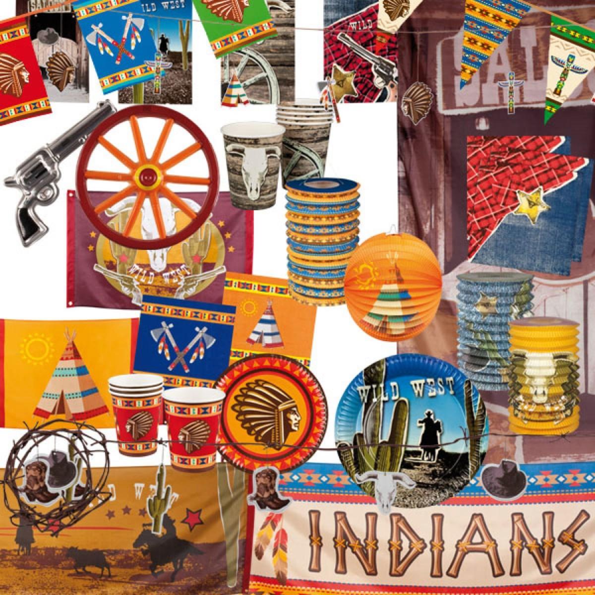Cowboy Indien Fête Déco Article DE Accesoire Décoration
