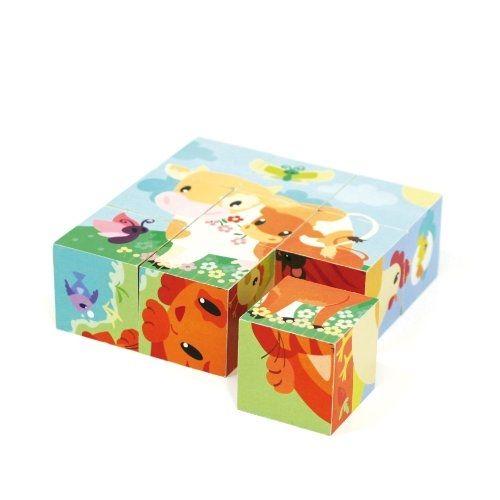 Aladine 46102 Jeu Educatif Cubes 9 PiÈCES En Bois pas cher