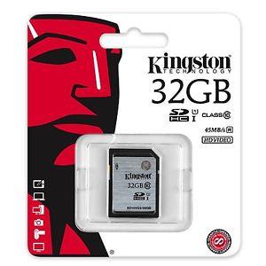 Carte SD HC 32 GO GB Kingston Appareil Photo Vidéo Full HD Numérique