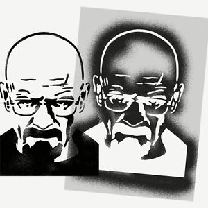 Breaking Bad Stencil Walter White Heisenberg Art Craft decor painting