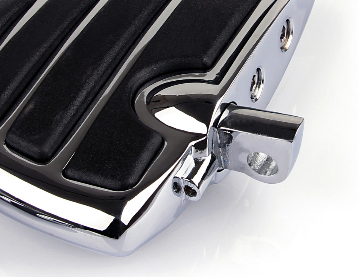 Repose pieds Aile Mini Marchepieds Chrome pour Harley Davidson XL Dyna
