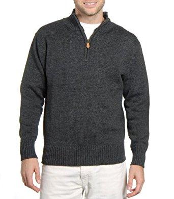 Wool Overs Pull camionneur homme en laine: Vêtements et